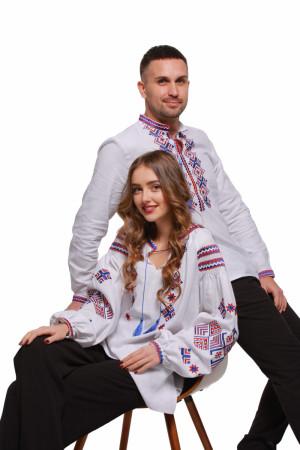 Комплект парных вышиванок для мужчины и женщины «Ромбы Косач»