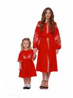Комплект вышитых платьев для мамы и дочки «Веснянка»