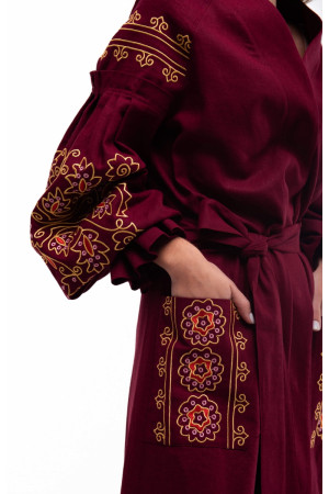 Платье «Дикая вишня» бордового цвета