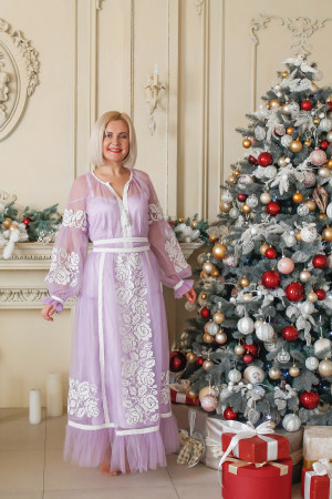 Платье «Свитозара» сиреневого цвета