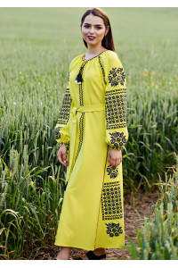 Платье «Солнечное» желтого цвета