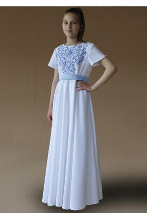 Платье для девочки «Амулет-Париж» белого цвета
