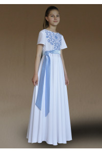 Платье для девочки «Амулет-Мадонна» белого цвета