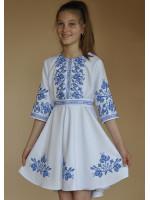 Сукня для дівчинки «Півники» білого кольору