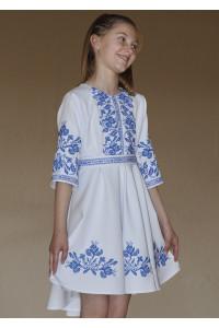 Платье для девочки «Ирисы» белого цвета
