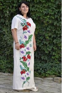Платье «Гибискус» белого цвета