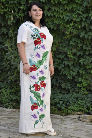 Сукня «Гібіскус» білого кольору