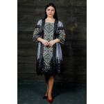 Сукня «Чаруна» білого кольору з чорною сіткою