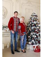 Семейный комплект «Любозар»: женская и мужская вязаные вышиванки