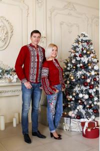 Сімейний комплект «Любозар»: жіноча та чоловіча в'язані вишиванки