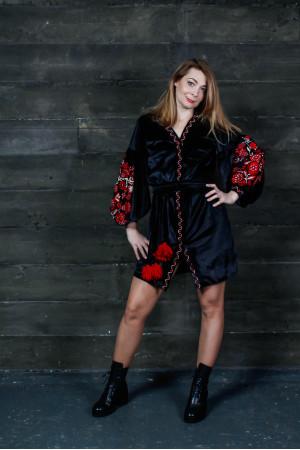Платье «Славяна» чорного цвета