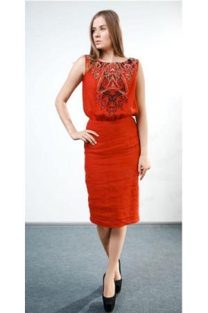 Сукня «Любляна» червоного кольору