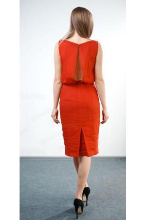 Платье «Любляна» красного цвета