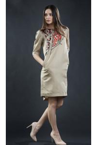 Платье «Зира» бежевого цвета