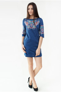 Платье «Ия» синего цвета