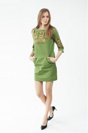 Платье «Ия» зеленого цвета
