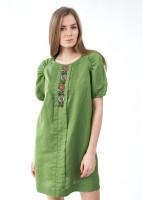 Платье «Буяна» зеленого цвета