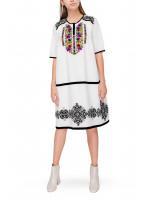 Платье «Марфа» с цветочной вышивкой