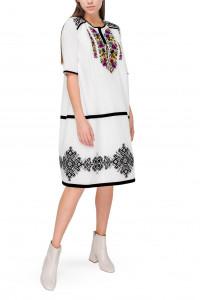 Сукня «Марфа» з квітковою вишивкою