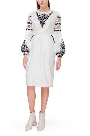 Платье «Фросина» белого цвета