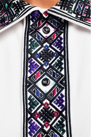 Вишиванка «Сварог» з чорним орнаментом