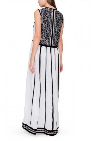 Платье «Амали» белого цвета