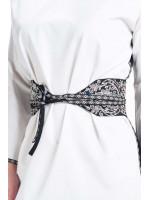 Вышитый пояс «Одила» черного цвета