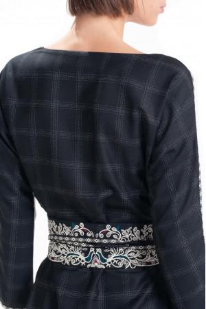 Вишитий пояс «Оділа» чорного кольору