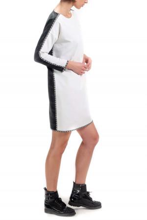 Платье «Звенислава» черно-белое