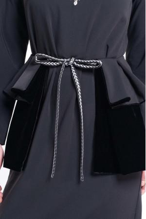 Платье «Доброслава» черного цвета