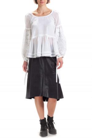 Вышитая блуза «Творислава» белого цвета