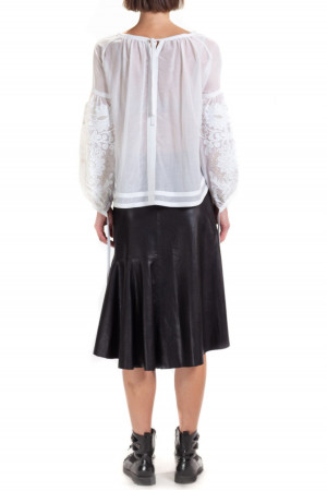 Вишита блуза «Творислава» білого кольору
