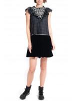 Платье «Бронислава» черного цвета