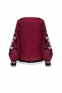 Вишиванка «Велислава» бордового кольору