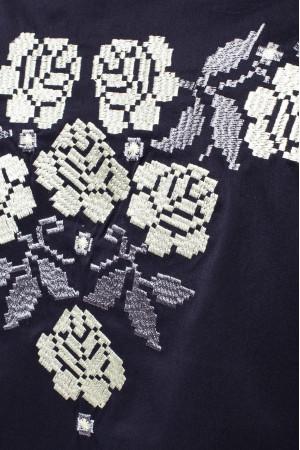 Вишиванка «Венцеслава» темно-синього кольору