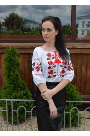 Вышиванка «Украина» белого цвета
