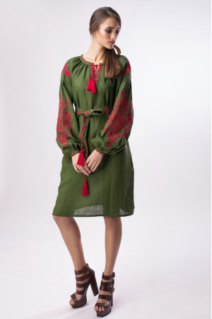 Сукня «Квітучий сад» зеленого кольору