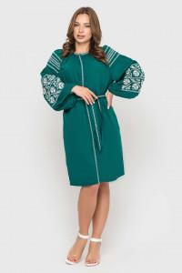 Платье «Ломаная ветвь» бирюзового цвета