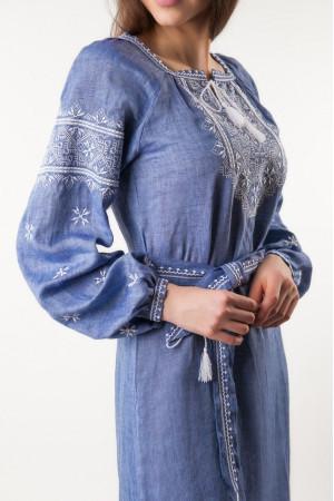 Сукня «Творимир» кольору джинс з довгим рукавом