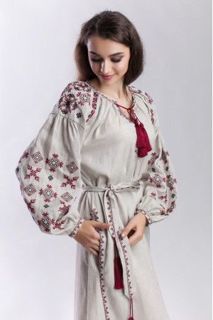 Сукня «Цвіт папороті» бежевого кольору