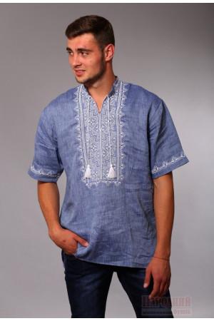 Вышиванка мужская «Яровит» цвета джинс