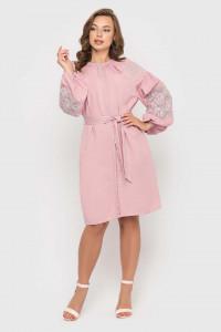 Сукня «Ламана гілка» кольору пудри
