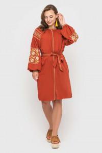 Сукня «Ламана гілка» кольору охри