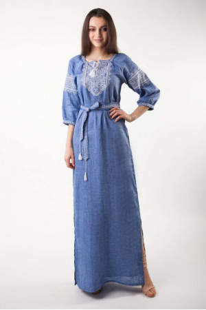 Платье «Творимир» цвета джинс