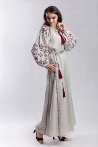 Платье «Цвет папоротника» бежевого цвета