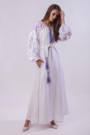 Платье «Цвет папоротника» белого цвета