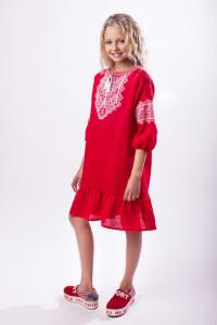 Сукня для дівчинки «Гордійка» червоного кольору