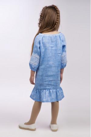 Платье для девочки «Гордийка» цвета джинс