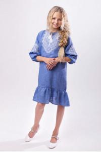 Сукня для дівчинки «Гордійка» кольору джинс