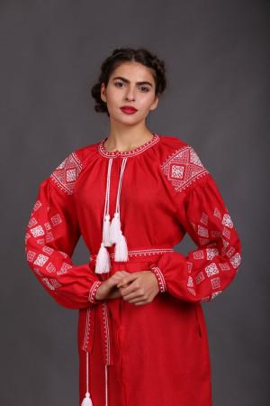 Платье «Вечерняя заря» красного цвета